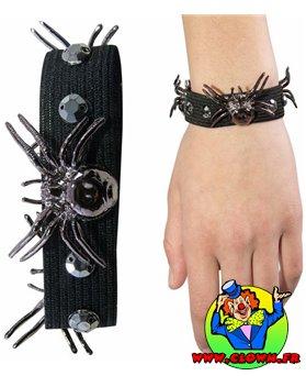 Bracelet élastique avec têtes de mort