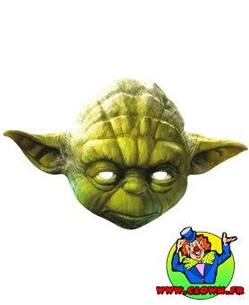 Masque adulte carton Yoda