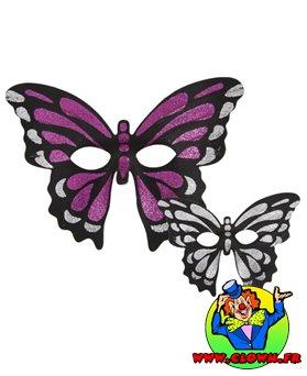 Loup tissu pailleté papillon