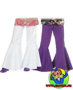 Pantalon blanc mixte patte def élastique
