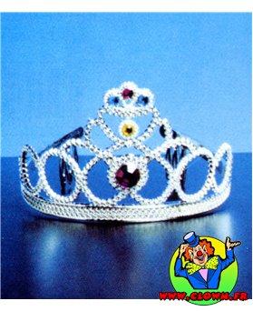 Diadème de reine N1 avec des pierres colorée