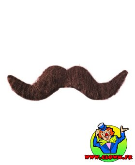 Moustache normal chatain N°2