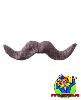 Moustache normal grise N°4
