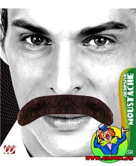 Moustache gentleman noir