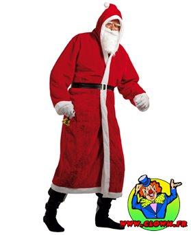 Déguisement adulte Père Noël luxe