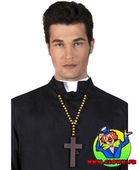 Croix de prêtre de luxe en bois