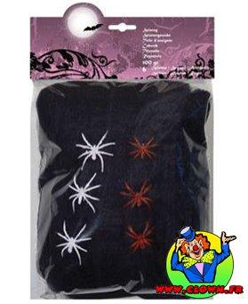 Toile d'araignée noire avec 6 araignées