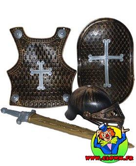 Set chevalier Knight bronze