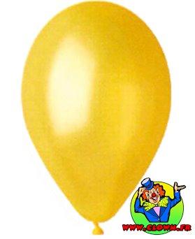 Ballons nacrés jaune
