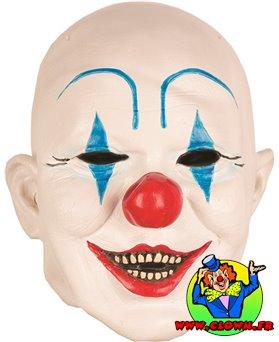 Masque Clown Blanc Bleu