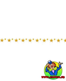 Guirlande plastique étoiles PM et GM or