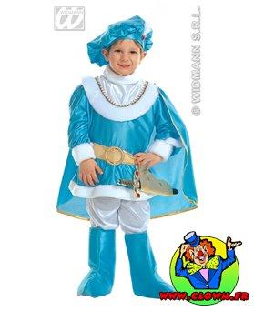 Déguisement de prince bleu clair