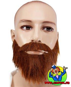 Moustache avec collier marron