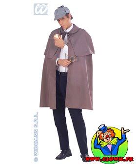 Manteau tissu pesant avec capeline gris
