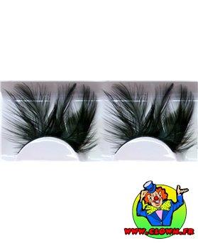 Faux cils plumes noir