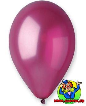 Ballons nacrés bordeaux