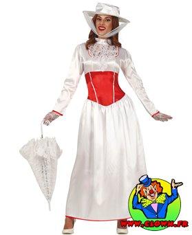 Déguisement de babysitter Marry Poppins