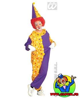 Déguisement de clown double ton