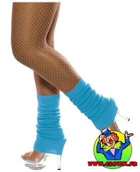 Chaussettes danse 80's fluo bleu