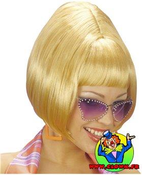 Perruque disco blonde
