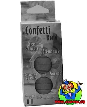 100 grs confettis de scène rond argent