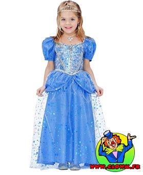 Déguisement de princesse fée bleue