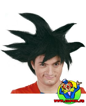 Perruque dragon ball Sangoku noire