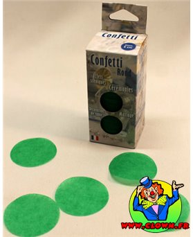 Confettis scène vert prairie