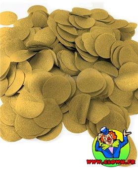 100 grs confettis de scène rond or