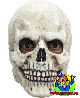 Masque de tête de crâne blanc