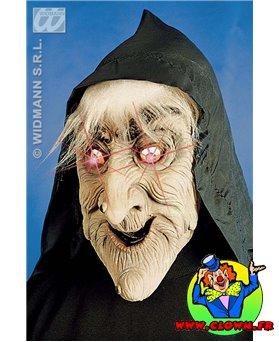 Masque de sorcière au yeux flambloyant