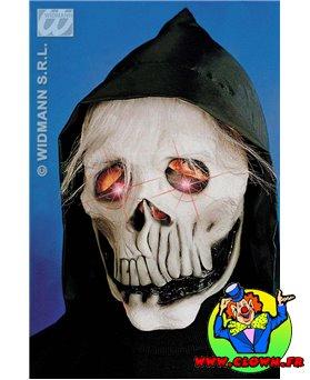 Masque de squelette au yeux flambloyant