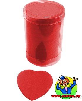 Pétale en forme de coeur rouge