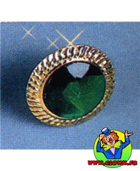 Bague fausse pierre n4 vert rond