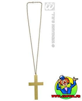 Collier or avec croix