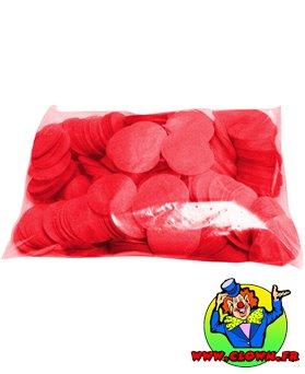 Confettis scène rond rouge