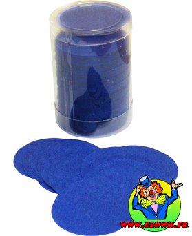 Confettis scène rond bleu roy