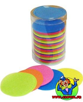Confettis scène rond multicolore