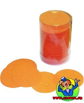 Confettis scène rond orange
