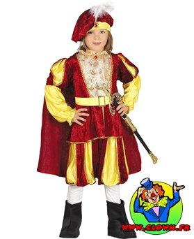 Déguisement de prince rouge
