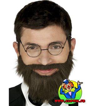 Barbe et moustache chataîn avec bande élastique