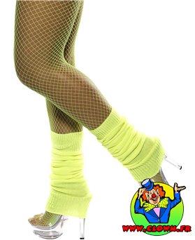 Chaussettes danse 80's fluo jaune