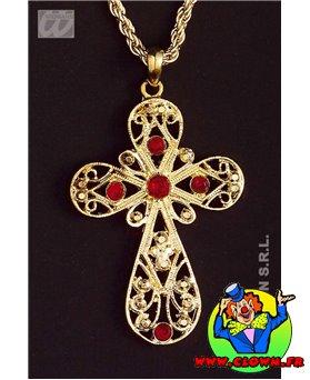 Collier croix decorée 1