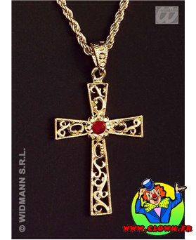 Collier croix decorée 5