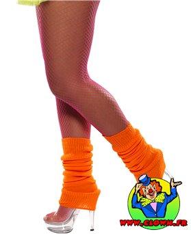 Chaussettes danse 80's fluo orange