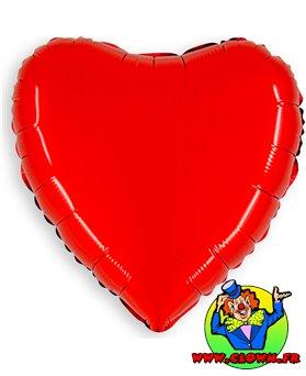 Ballon mylar métallisé coeur rouge