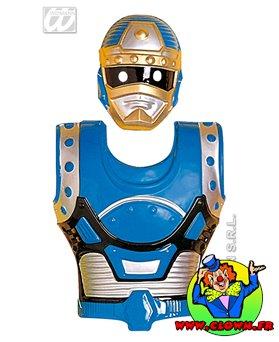 Masques et armures bioman bleu