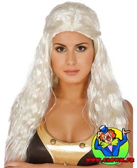 Perruque longue blanche Kalesi