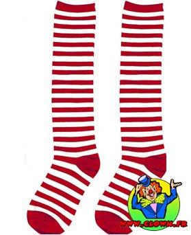 Chaussettes rayées bleu rouge