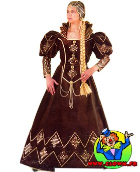 Location déguisement Robe médiévale marron